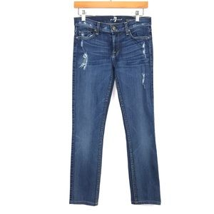 7 For All Mankind Roxanne Jeans 27 Distress Skinny